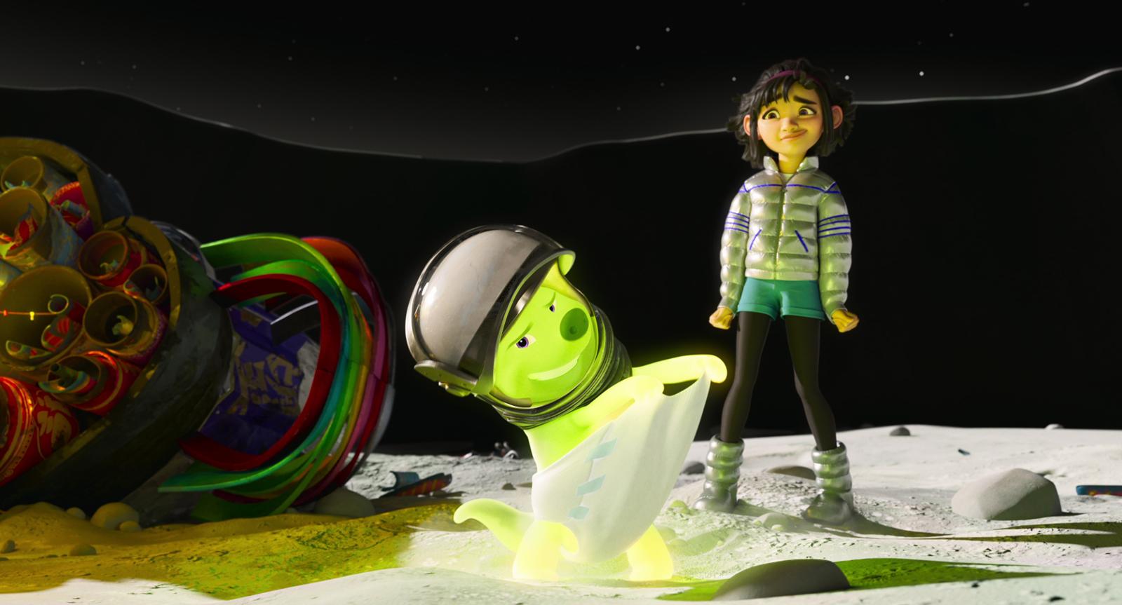 Over The Moon / Voyage dans l'Espace, dessin animé Netflix, 2020